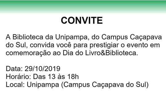 Convite - Dia do Livro&Biblioteca
