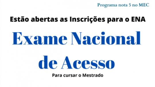 Abertas Inscrições para Mestrado PROFMAT - ENA 2022