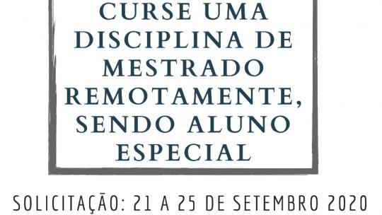 Matrícula em disciplinas do Mestrado Profissional em Matemática - PROFMAT em Regime Especial