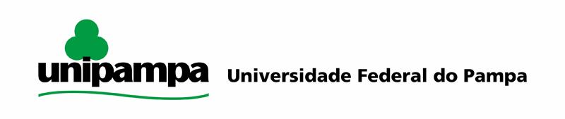 Assinatura Visual Unipampa horizontal com fundo branco