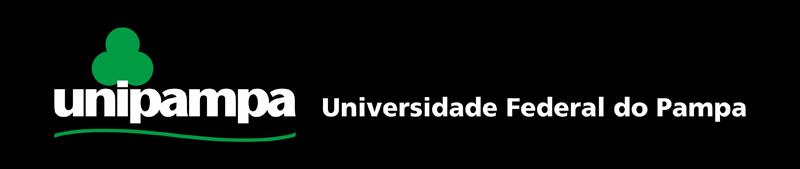 Assinatura Visual da Unipampa horizontal com fundo preto