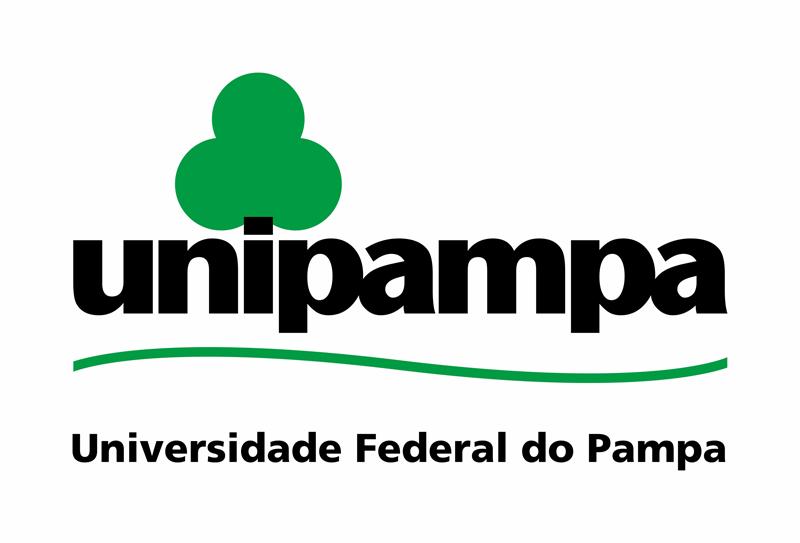 Assinatura Visual da Unipampa vertical com fundo branco
