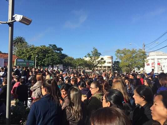 As manifestações também aconteceram em Dom Pedrito. Fotos: Divulgação