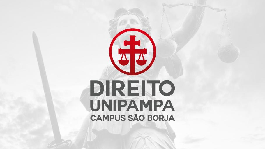Identidade visual do curso de Direito no Campus São Borja.