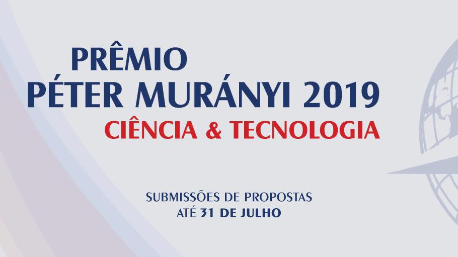 Anúncio do período de inscrições ao prêmio Peter Murányi.