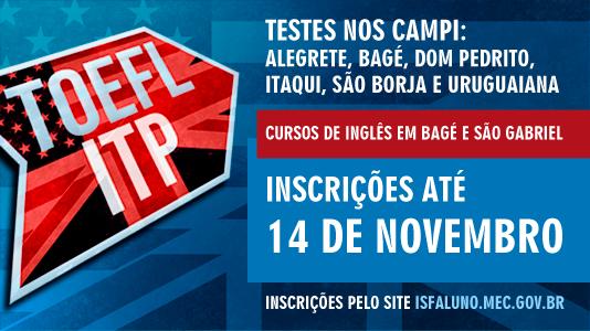 Estudantes e servidores da Unipampa podem se inscrever para cursos de idiomas e para o teste TOEFL ITP.