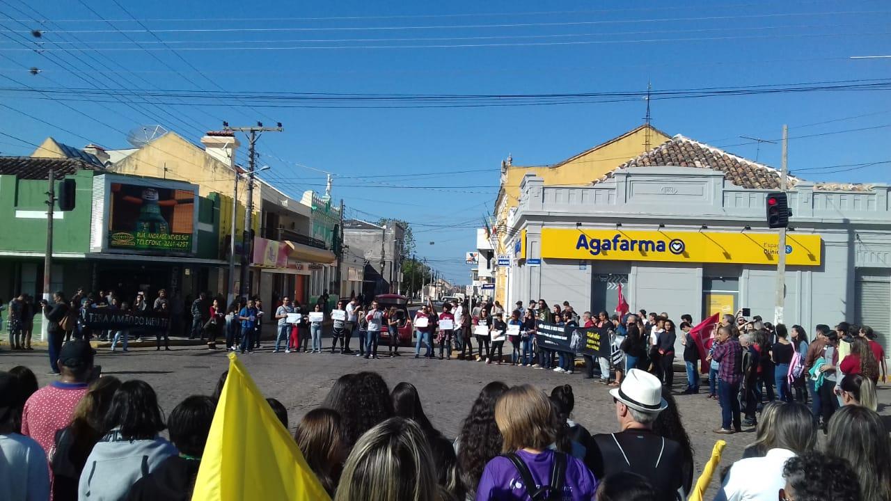 Muitos estudantes participaram das atividades em Jaguarão. Fotos: Divulgação