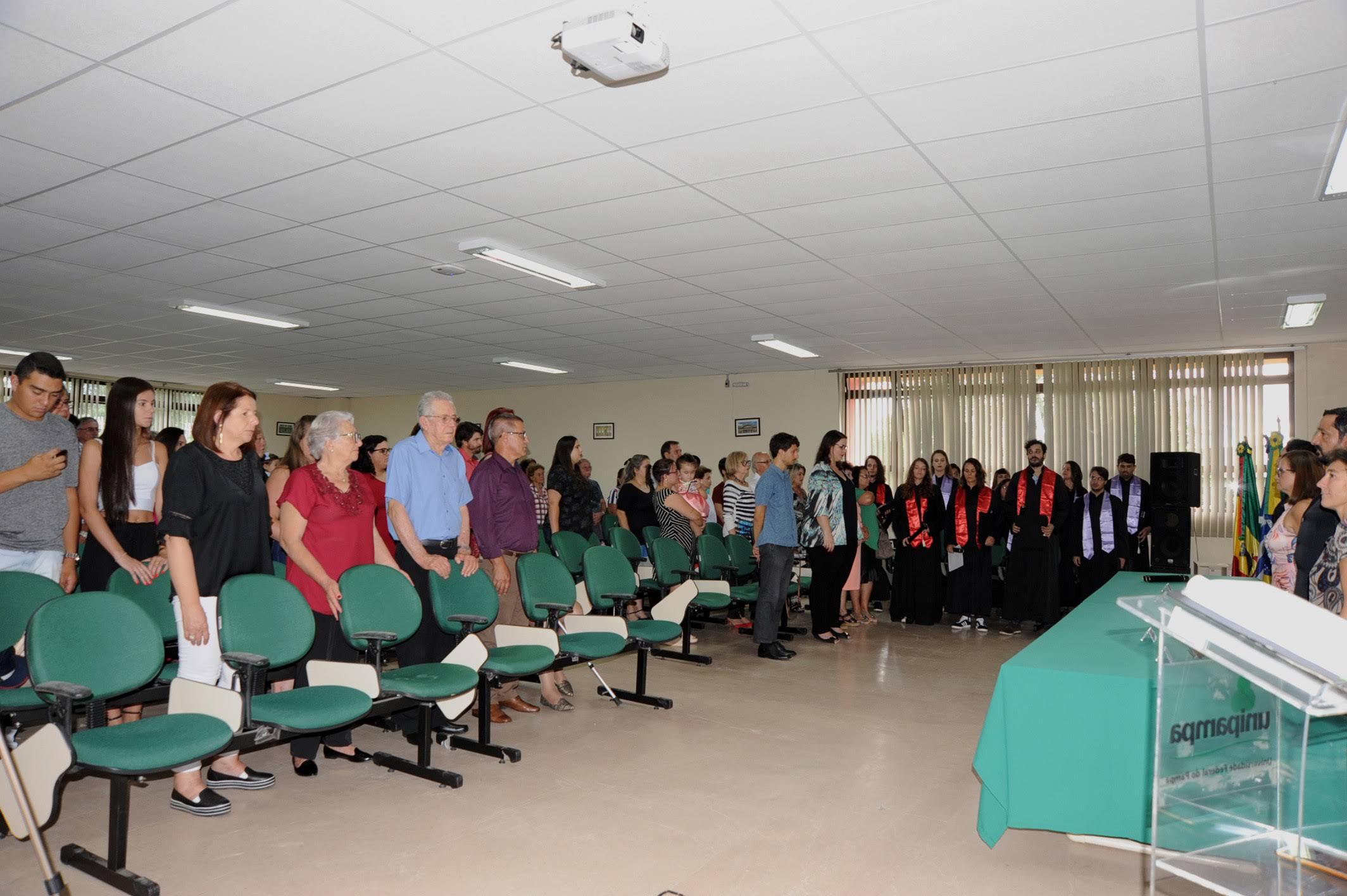 Cerimônia de colação de grau solene interna do Campus Jaguarão