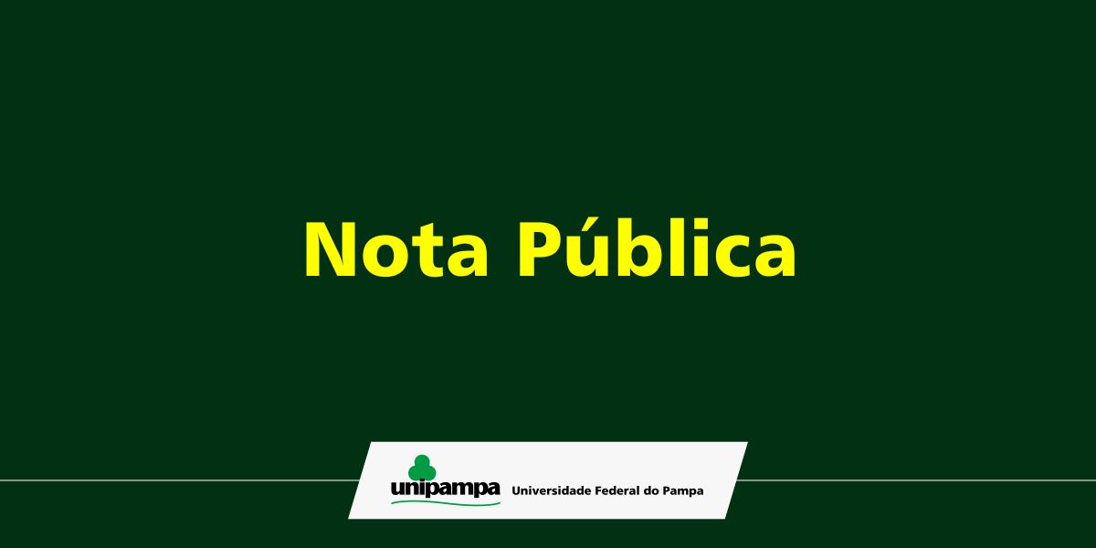 Nota pública de suspensão das atividades acadêmicas e administrativas.