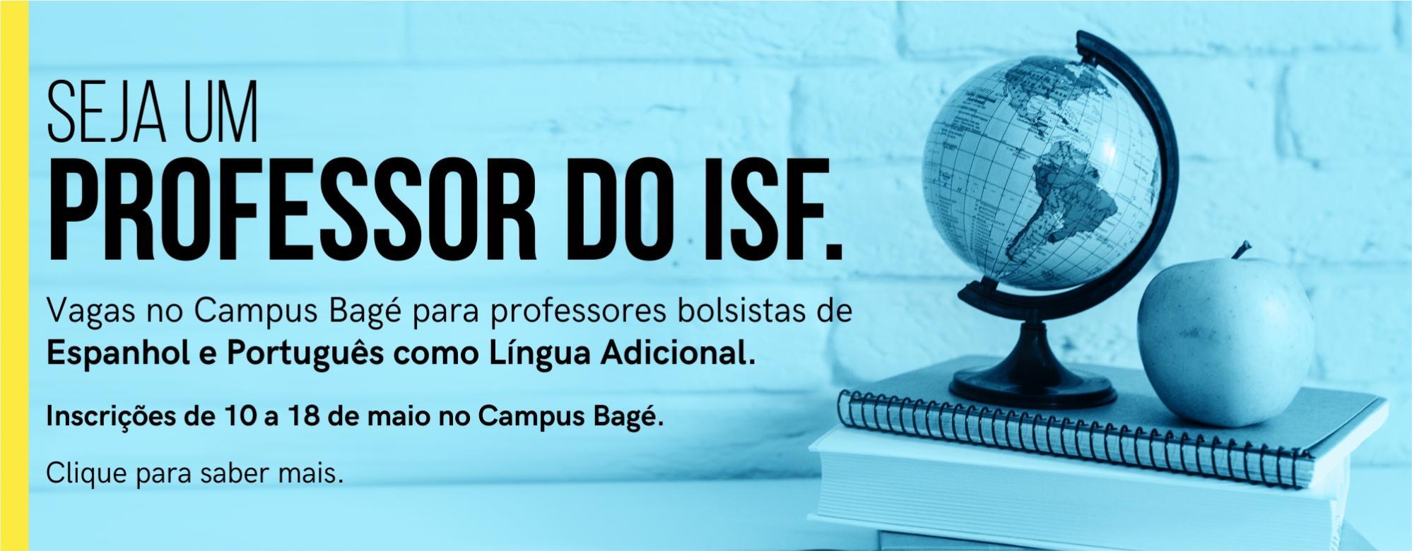 Anúncio da seleção de professores bolsistas de Espanhol e português como língua adicional