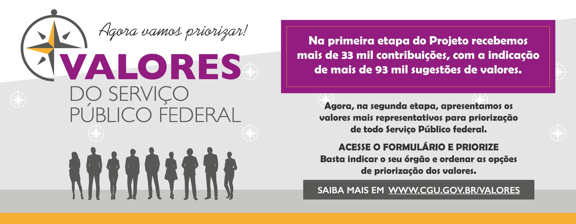 Pesquisa Valores do Serviço Público Federal - 2ª Etapa