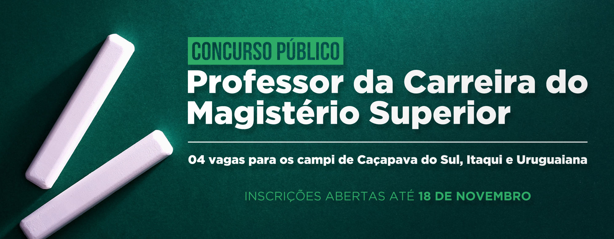 Concurso público para professor da carreira do magistério superior