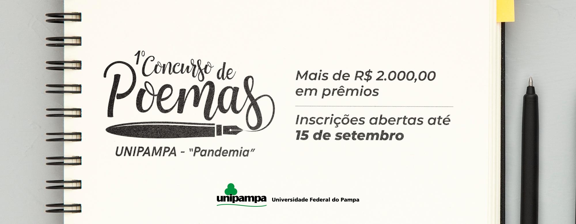 Inscrições abertas para Concurso de Poemas com a temática Pandemia