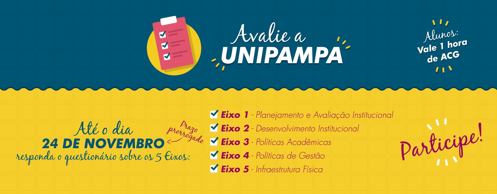 """Banner publicitário da campanha """"Avalie a Unipampa"""""""