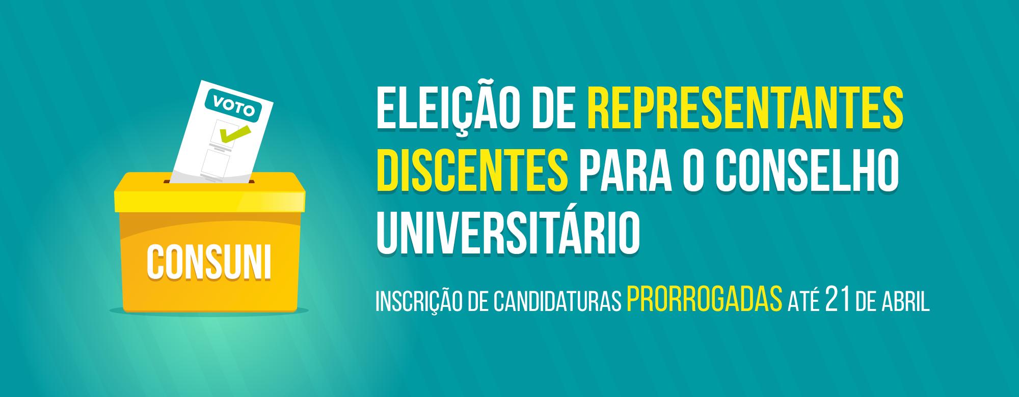 Eleição de representantes discentes para o Conselho Universitário