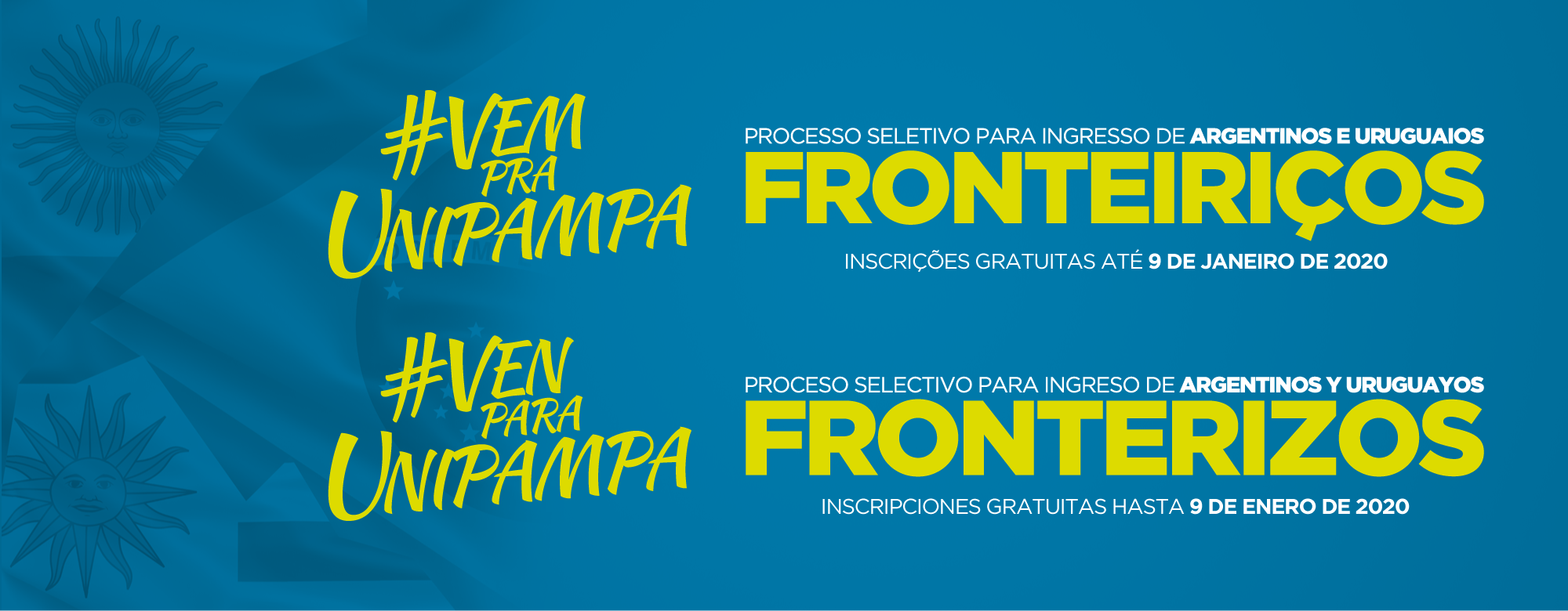 Processo Seletivo para Ingresso de Argentinos e Uruguaios Fronteiriços.