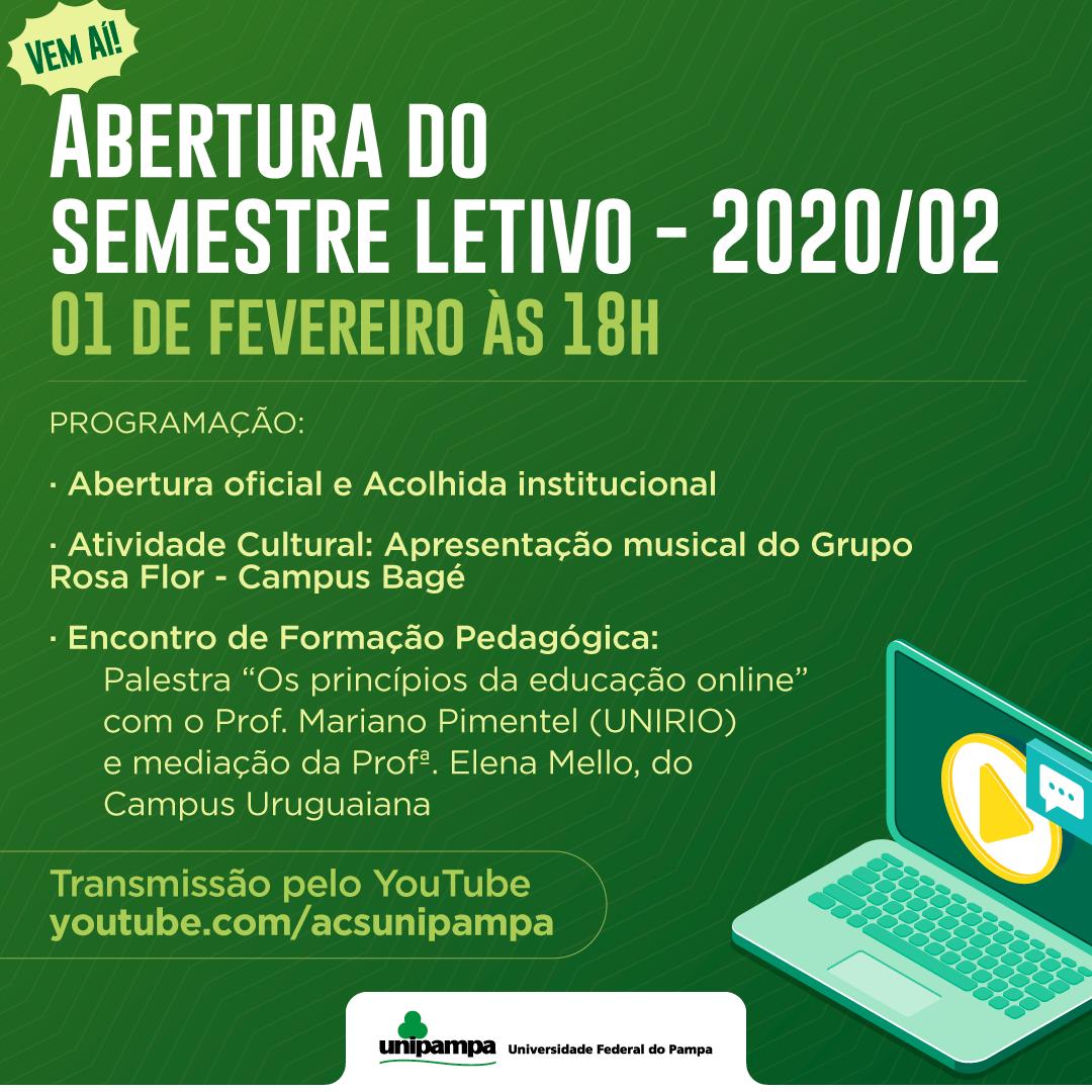 abertura do semestre letivo 2020-02