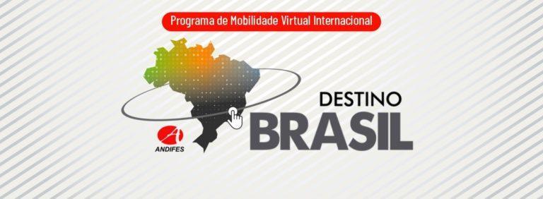 mapa do brasil em degradê colorido com anel que o circunda. ao lado, destino brasil e logo da andifes