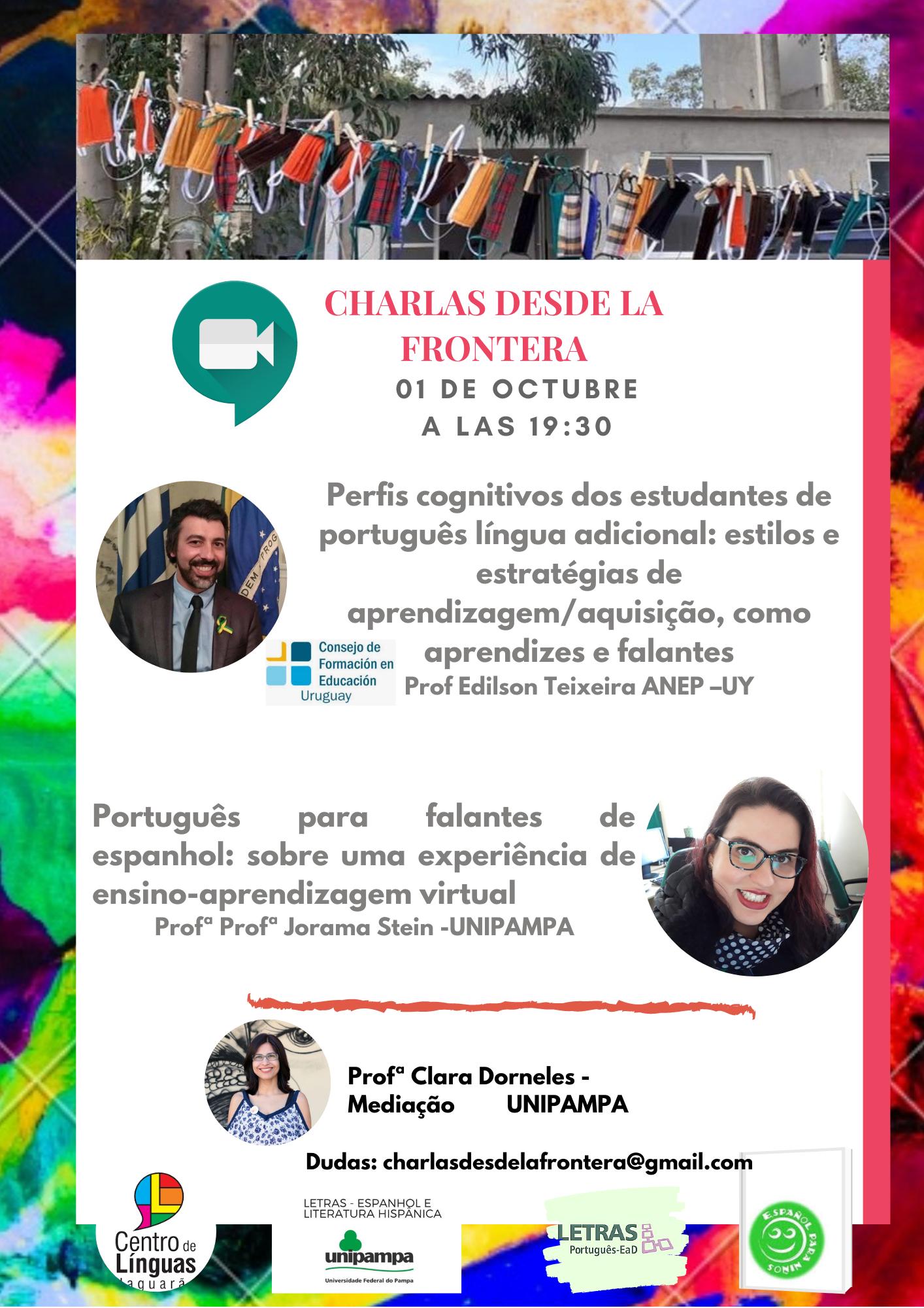 Curso de Letras promove II Webinário Charlas desde la Frontera - Divulgação