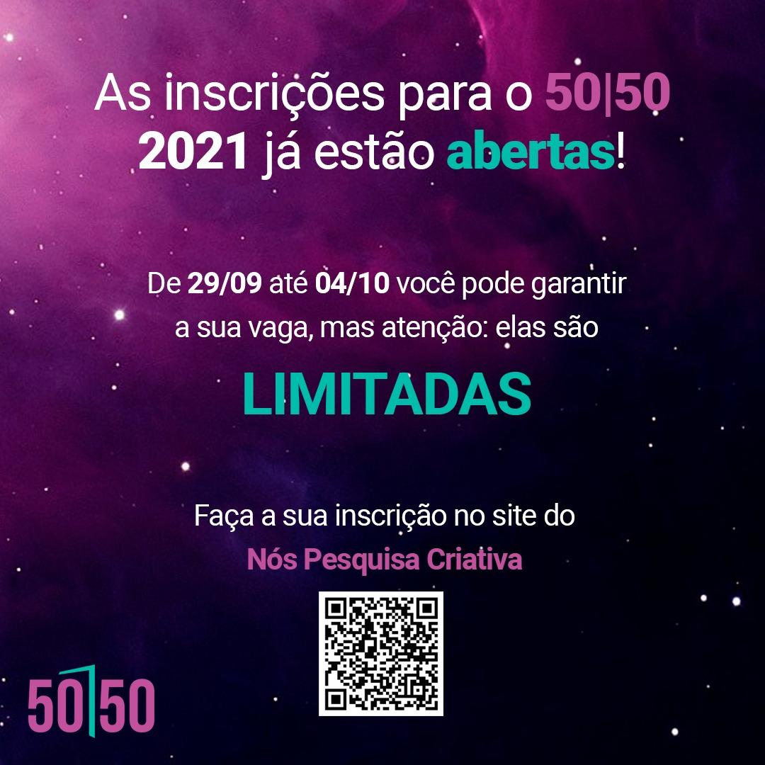 Inscrições abertas para o projeto 50|50: abrindo portas para a equidade de gênero na Comunicação