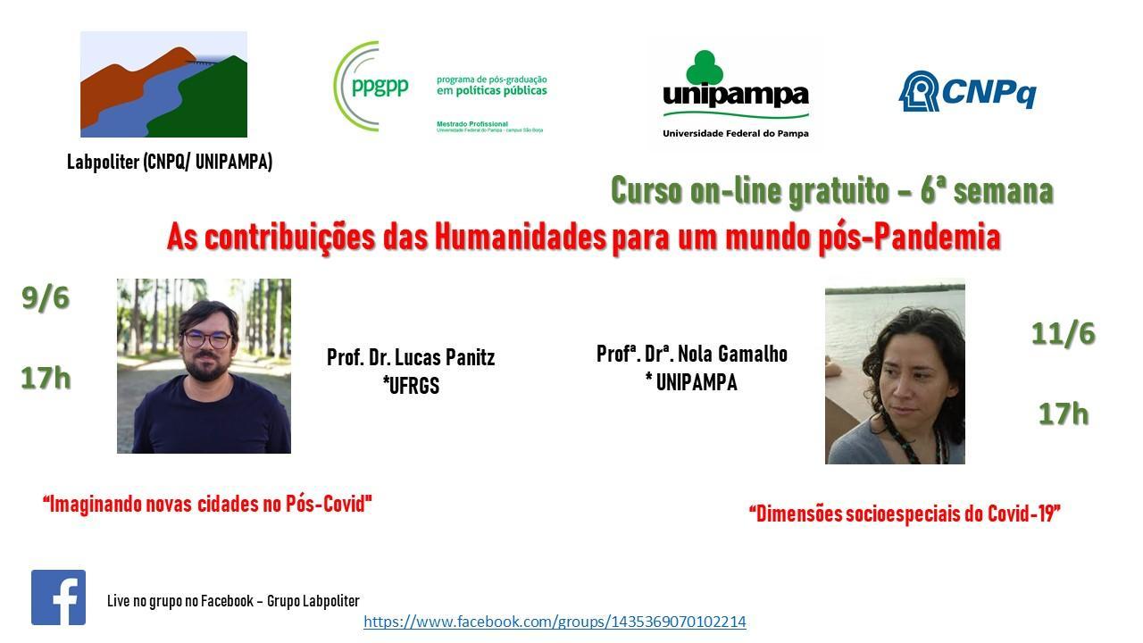 Conheça a programação do curso As contribuições das humanidades para um mundo pós-pandemia