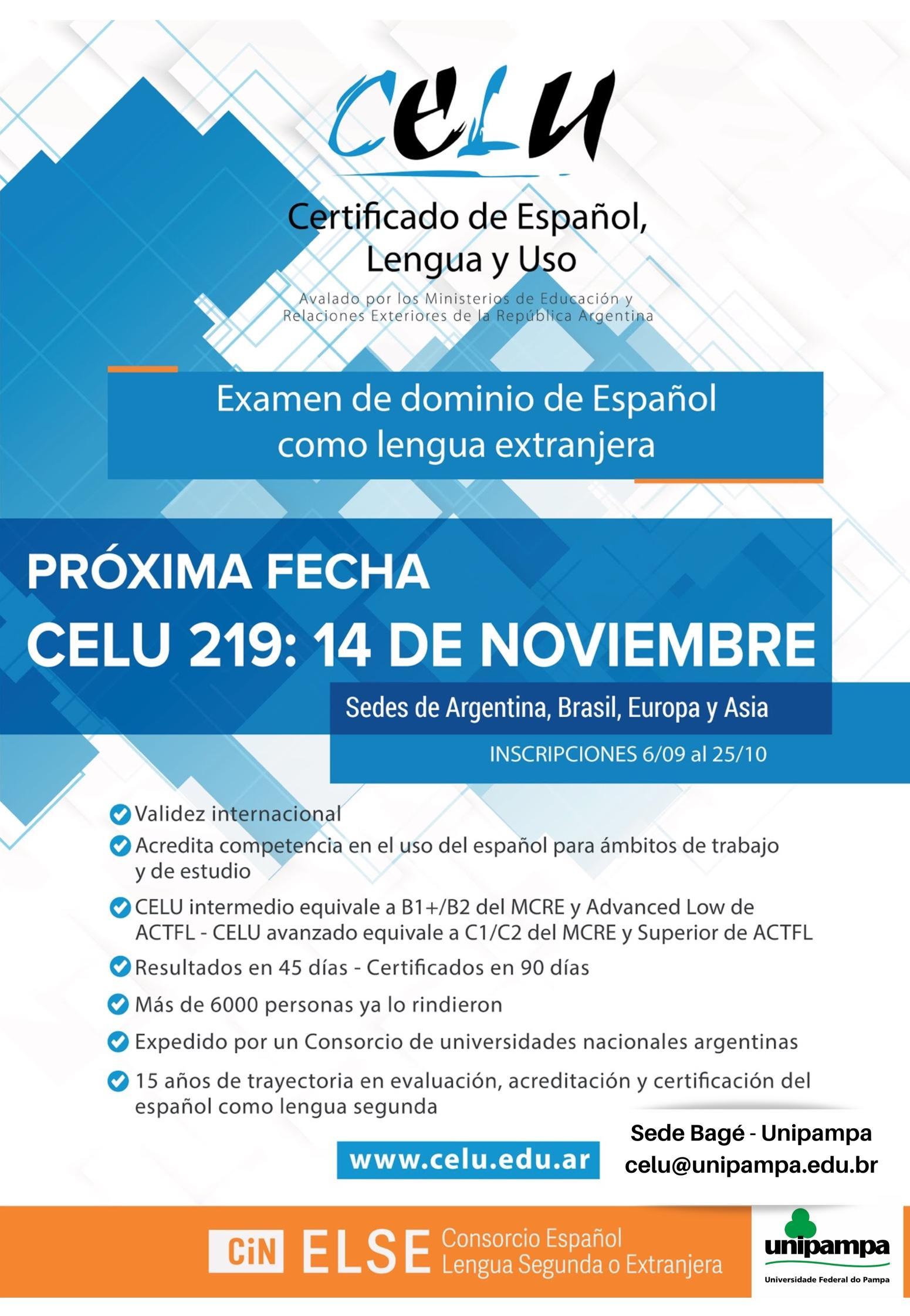 CELU será aplicado em 14 de novembro na Unipampa
