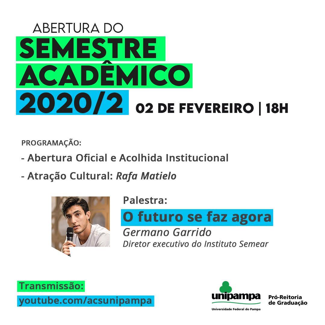 abertura do semestre acadêmico 2020-02