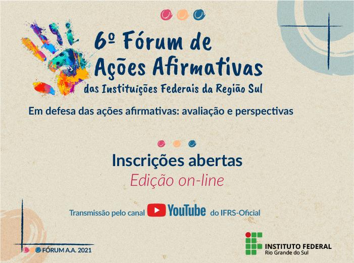 Fórum de Ações Afirmativas das Instituições Federais da Região Sul recebe inscrições