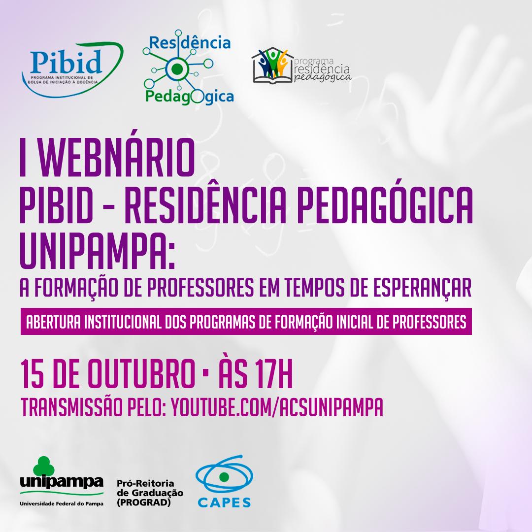 Unipampa promove I Webinário PIBID – Residência Pedagógica