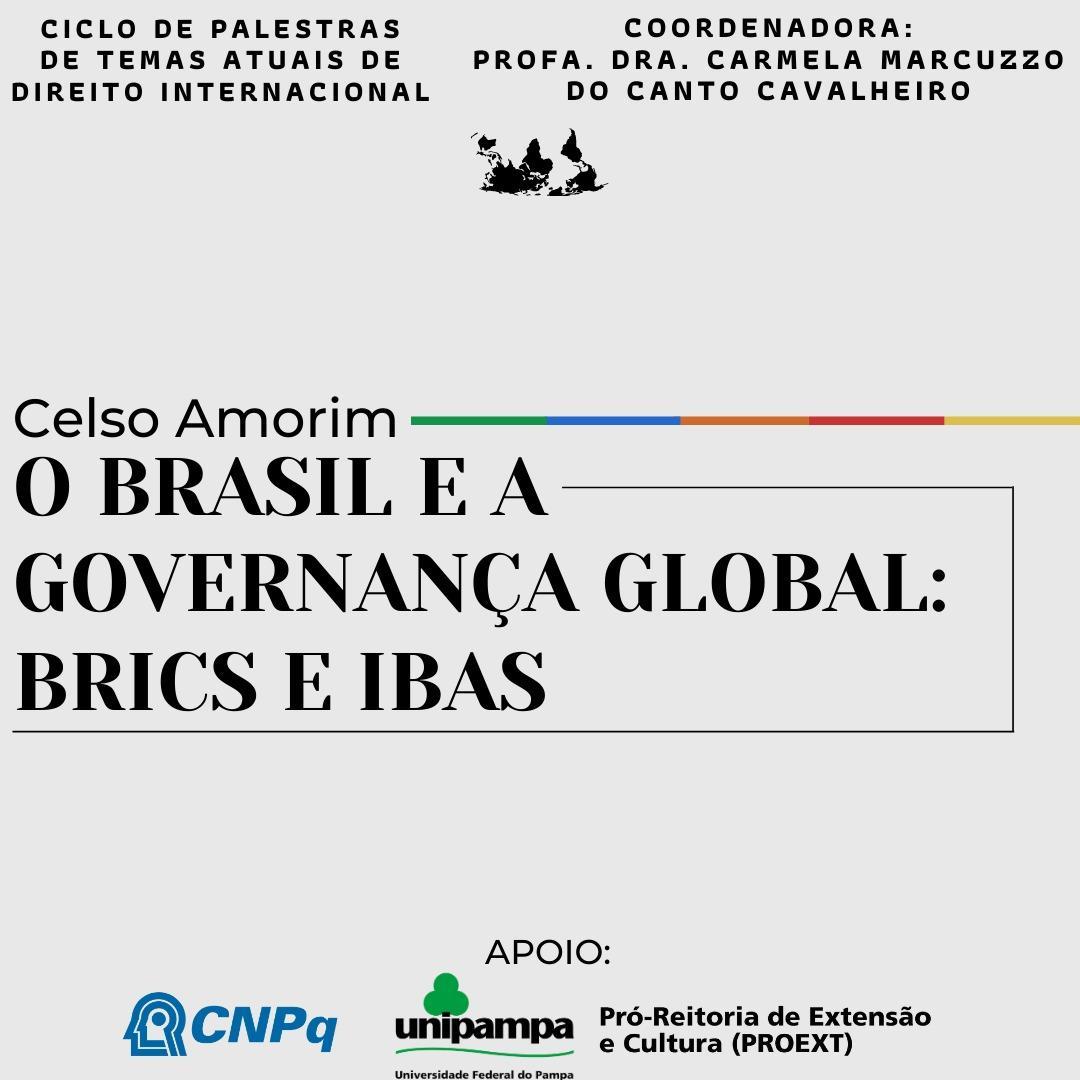 """""""Ciclo de palestras de Direito Internacional"""" acontece quarta-feira, 18"""