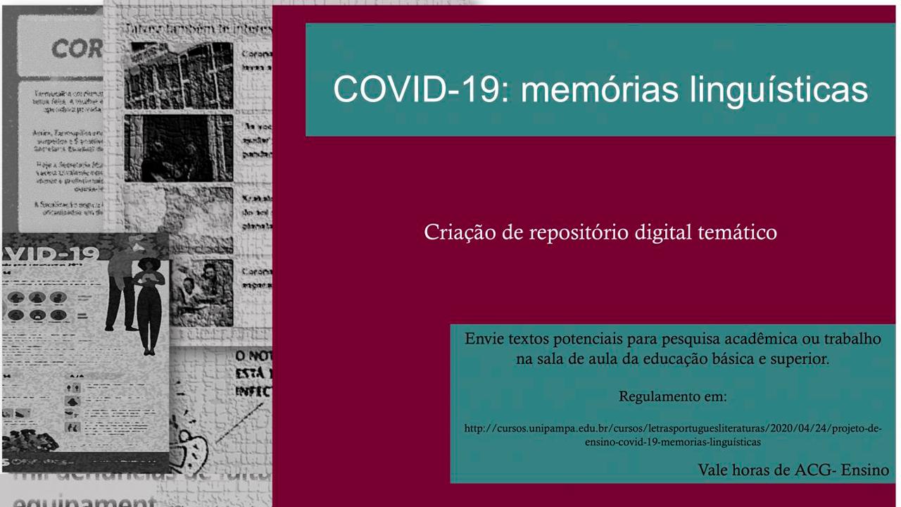 Covid-19: memórias linguísticas