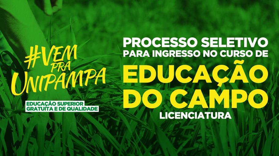 Curso de licenciatura em Educação do Campo abre processo seletivo de ingresso para 2020