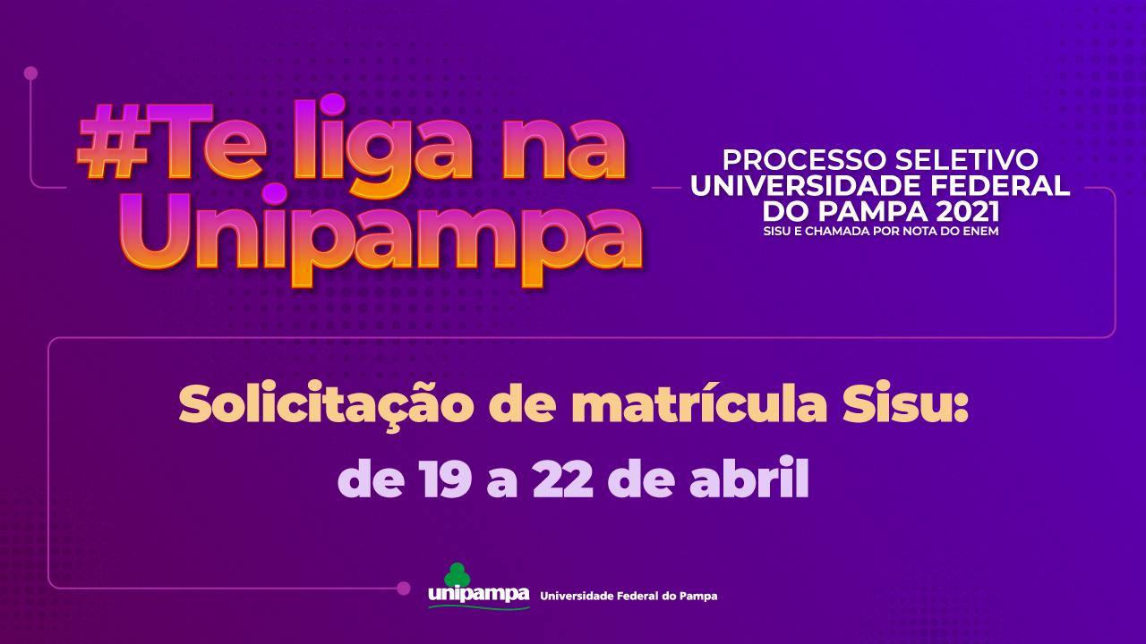 Solicitação de Matrículas vão de 19 a 22 de abril