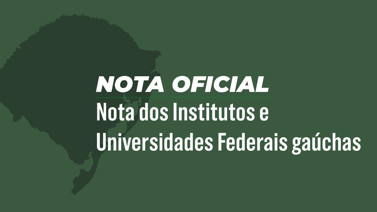 Universidades públicas e institutos federais gaúchos publicam nota à sociedade sobre enfrentamento da Covid-19