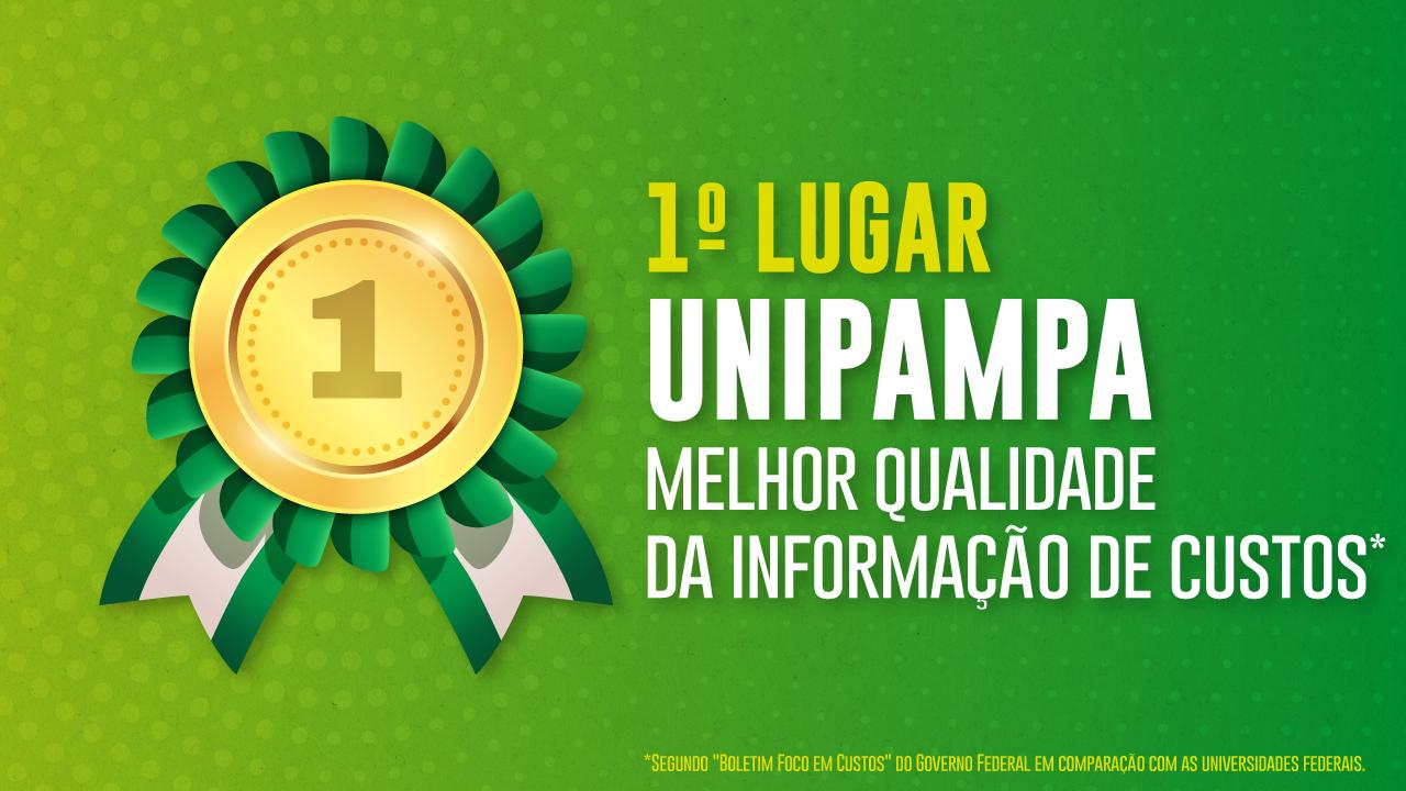 Unipampa lidera ranking do Governo Federal de melhor qualidade da informação de custos
