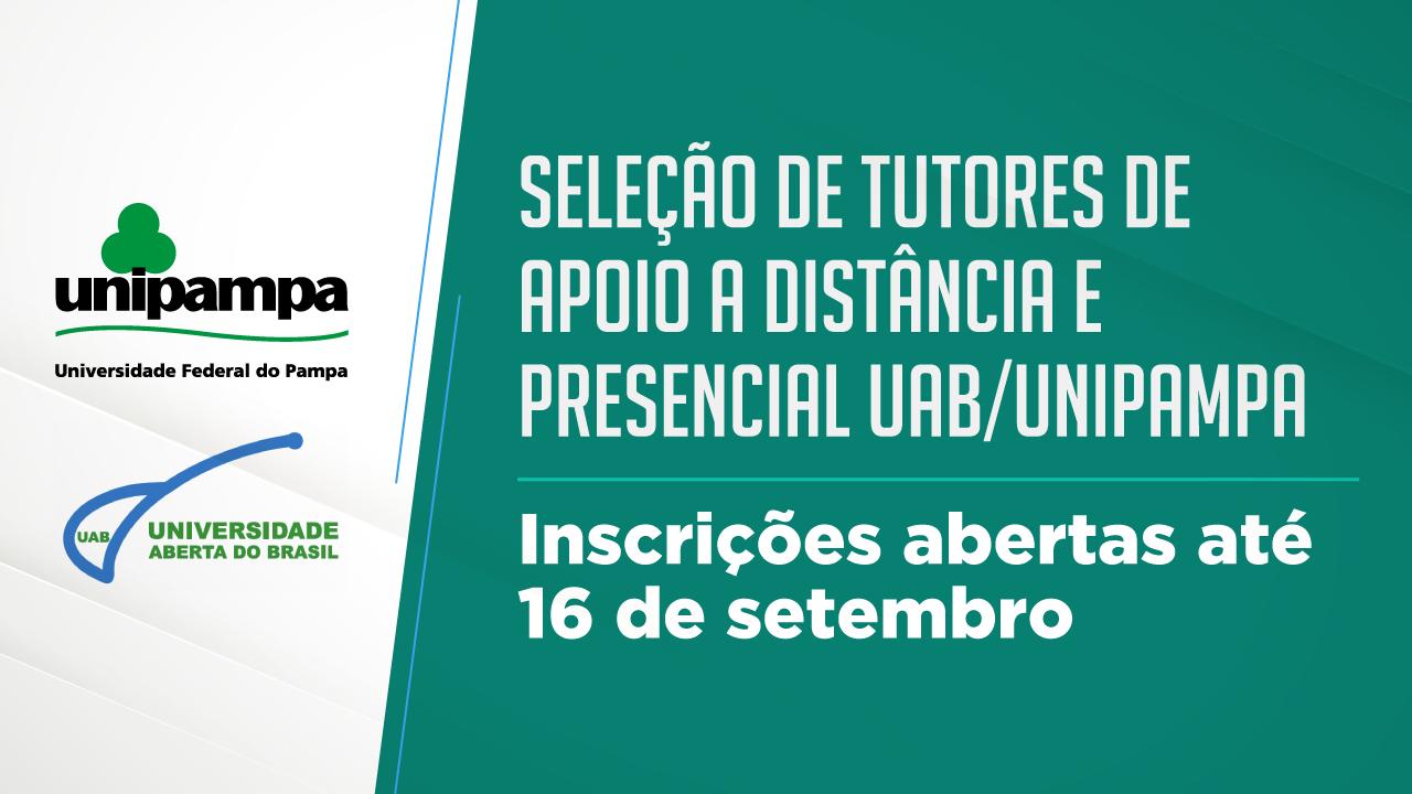 Abertas inscrições para seleção de tutores presenciais e a distância