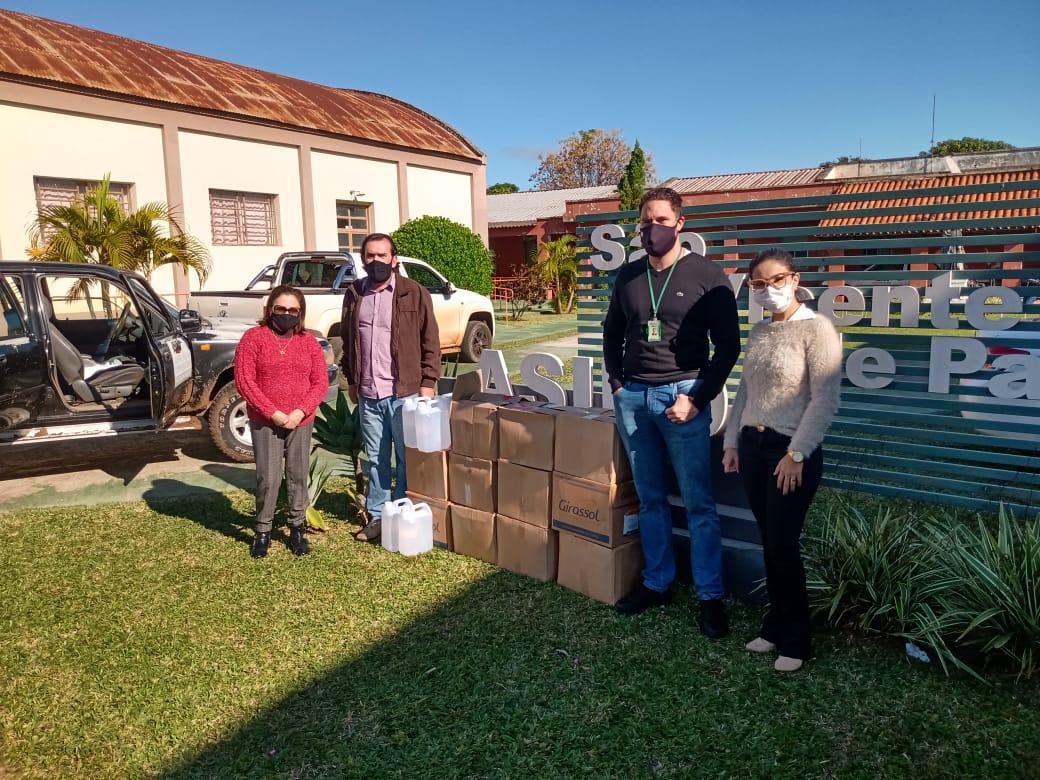 Unipampa realizou doações para o Asilo São Vicente de Paula de São Borja - Divulgação