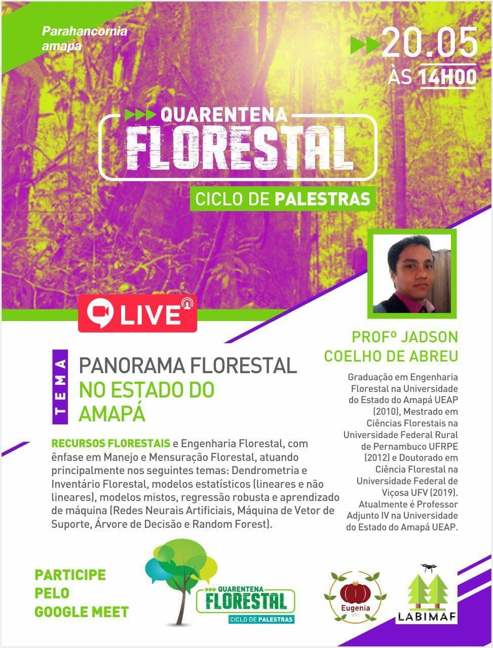 Palestra Panorama Florestal do Estado do Amapá