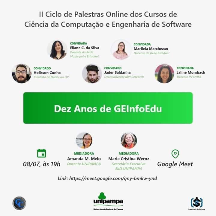 Grupo de Estudos em Informática na Educação da Unipampa promove evento hoje