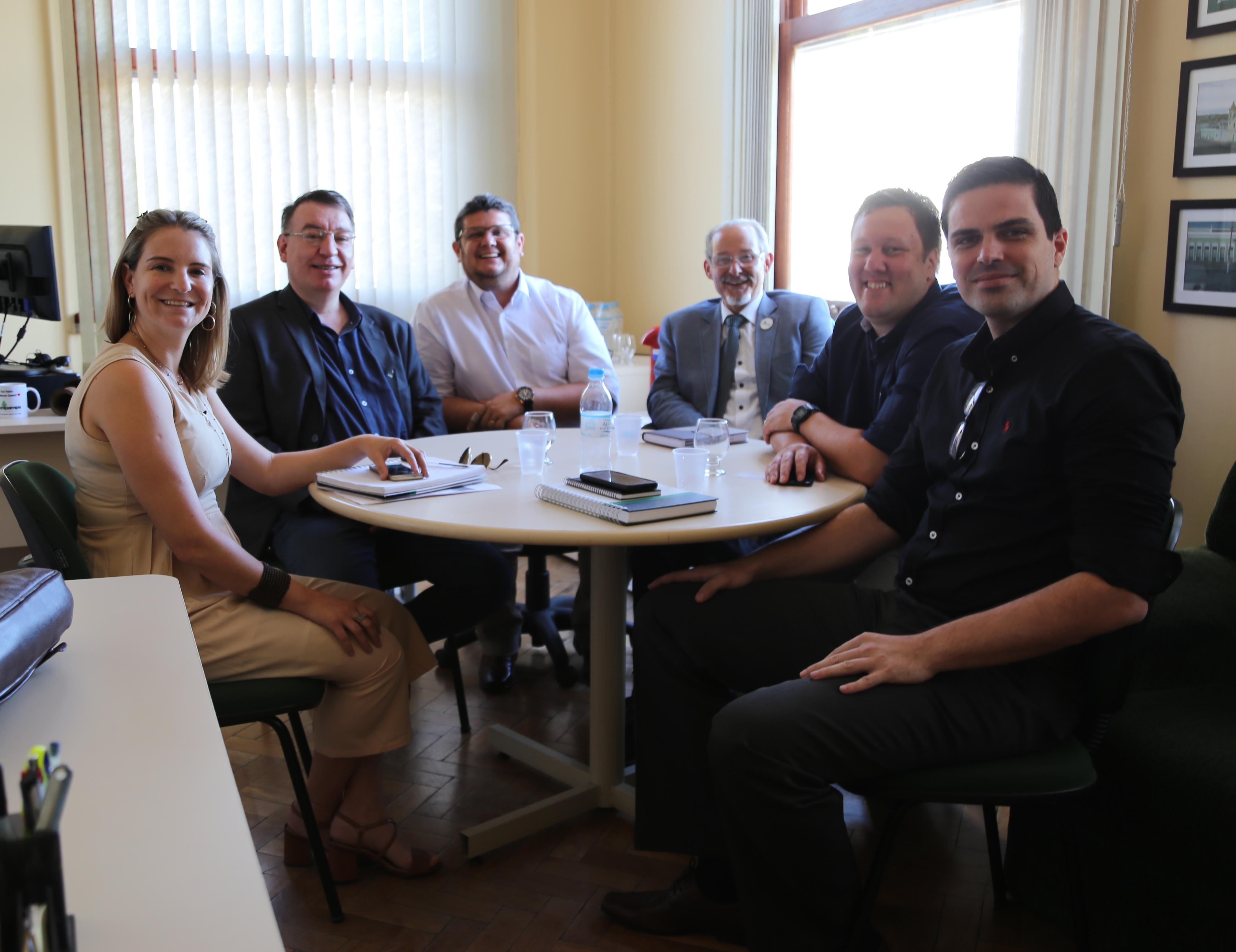 Reunião entre a UFFS e a Prograd da Unipampa - Foto: Franceli Couto/Unipampa