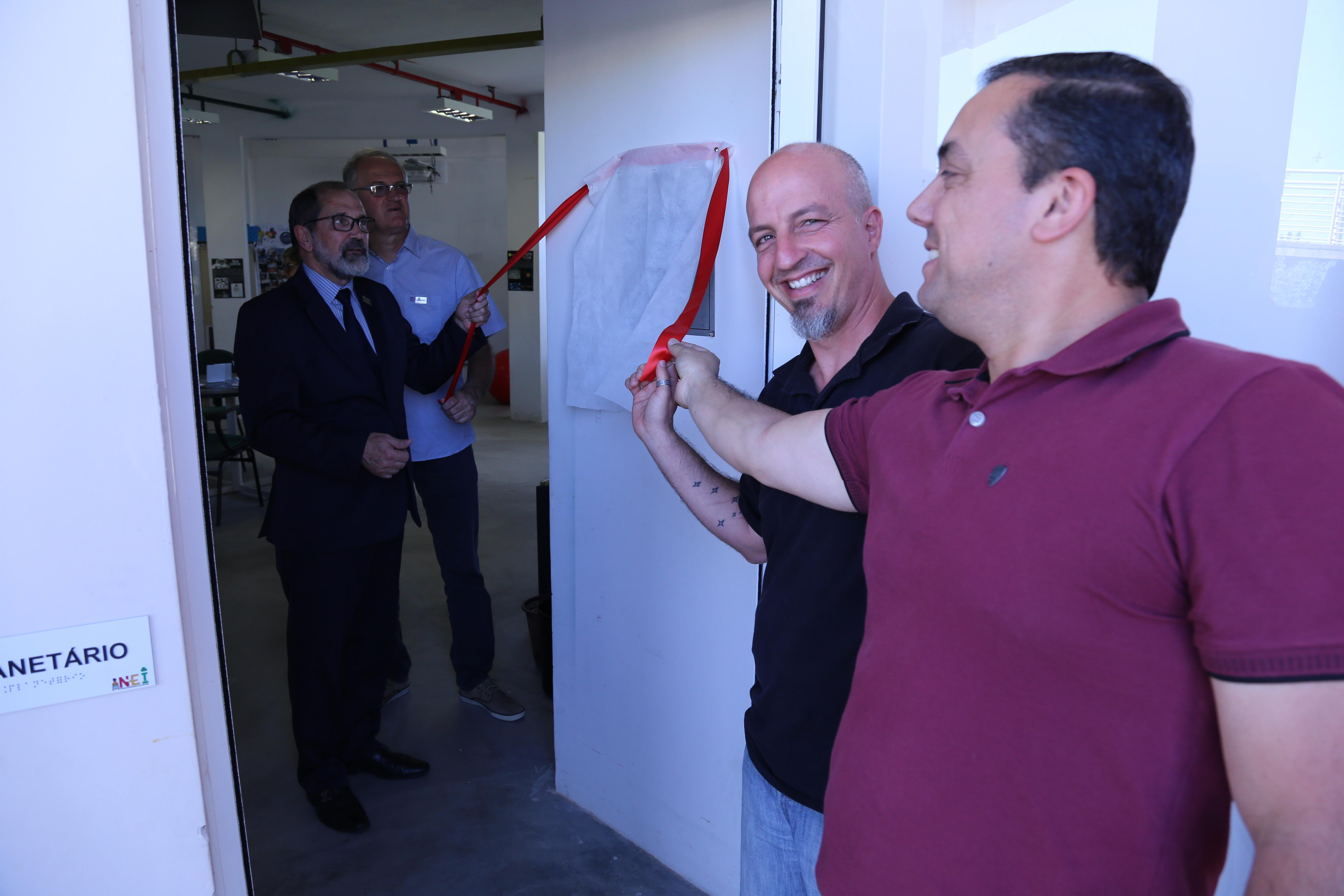 Aposição de Placa do Planetário da Unipampa - Foto: Manoel Abreu/Unipampa