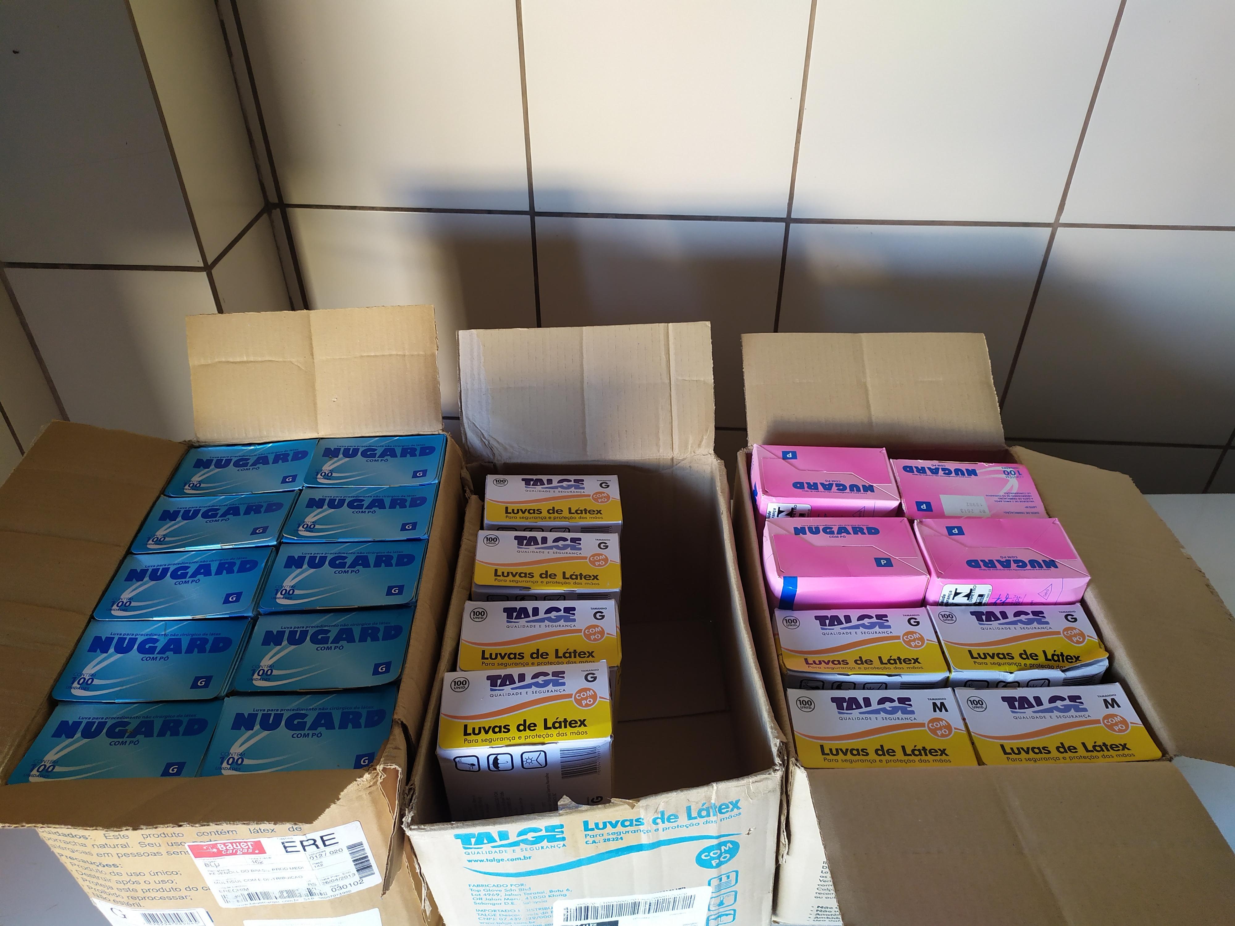 Material doado pela Unipampa - Campus Dom Pedrito à Secretaria Municipal de Saúde - Foto: Divulgação