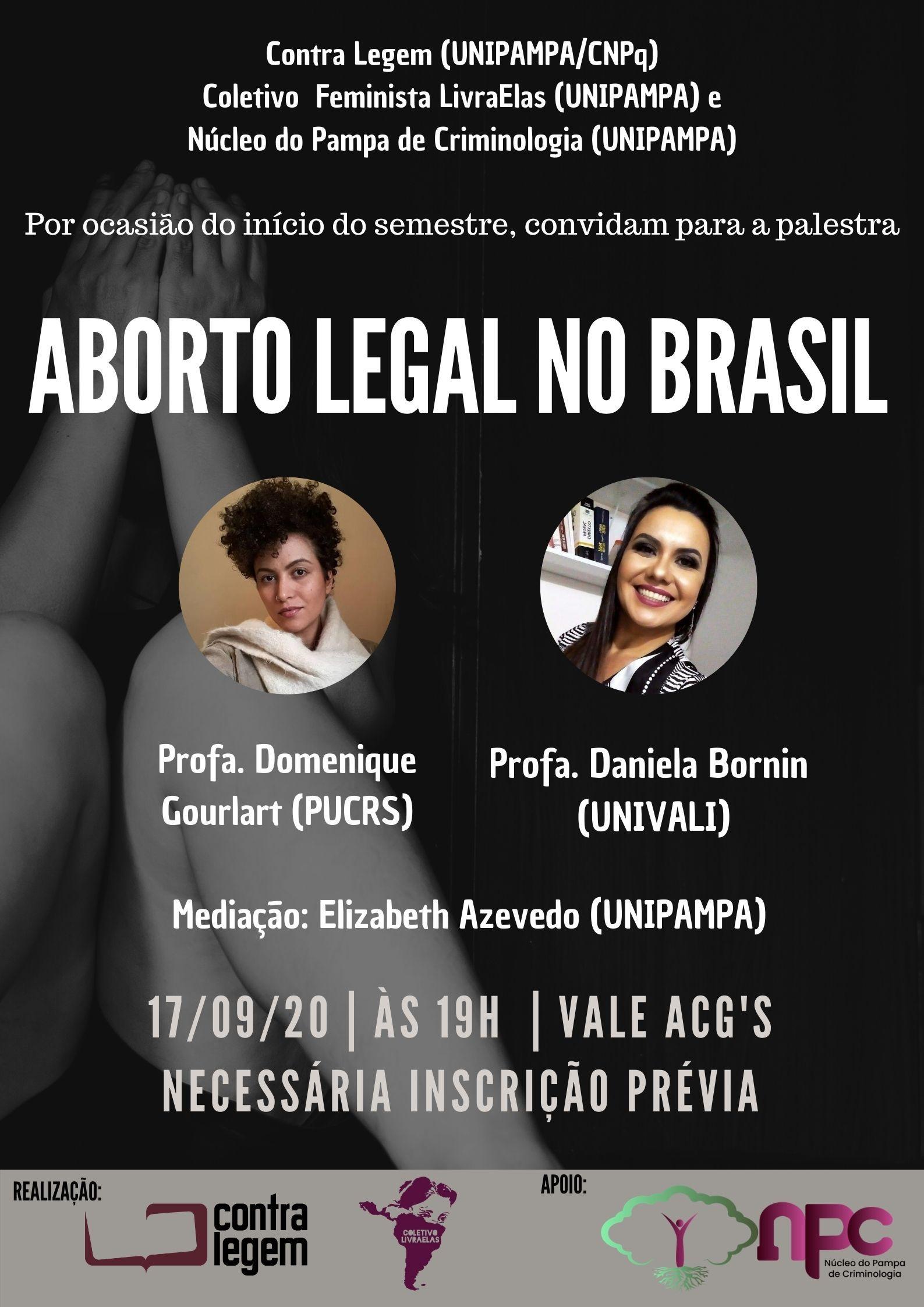 Aborto Legal no Brasil é tema de palestra na quinta-feira, 17