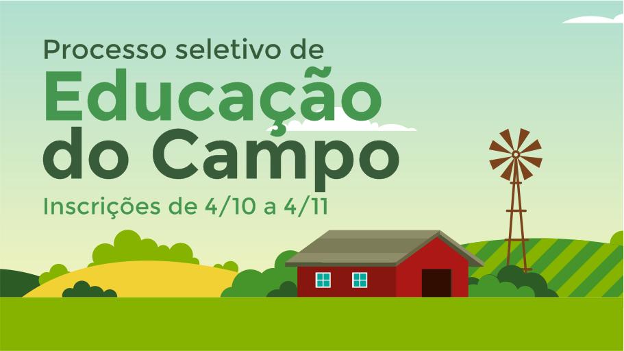 Unipampa lança seleção para Curso de Educação do Campo