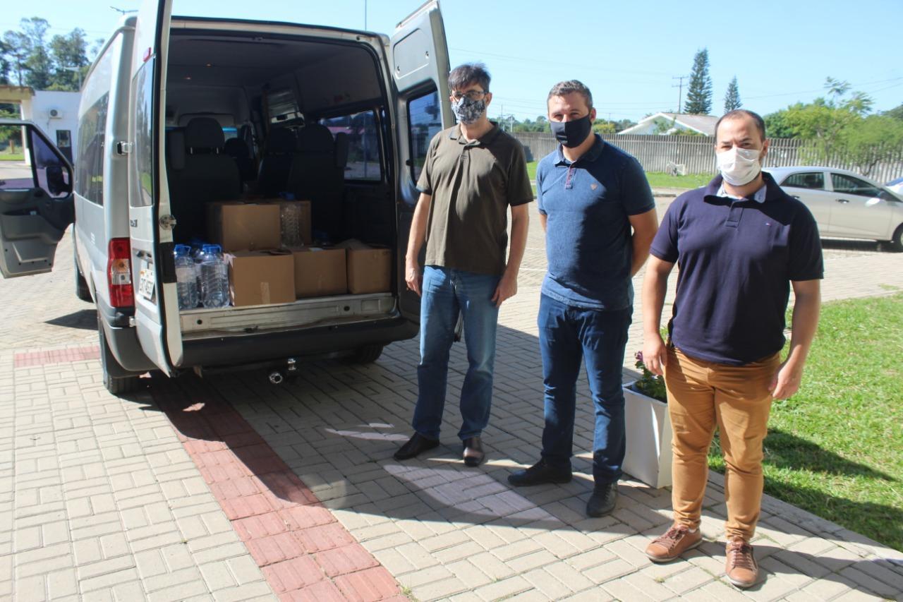 500 litros de álcool produzidos na Unipampa são doados para Prefeitura de Itaqui