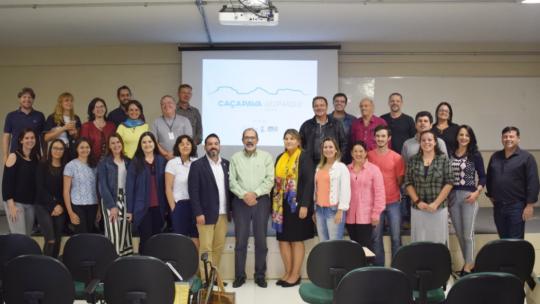 O encontro teve a presença do reitor da Unipampa, Marco Hansen, do pró-reitor de Extensão da UFSM, Flavi Lisboa, da pró-reitora