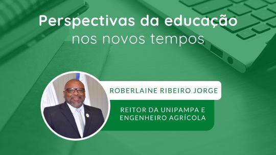 card com fundo verde, foto do professor roberlaine e informações do evento