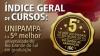 Índice geral de cursos: Unipampa é a 5ª melhor universidade do Rio Grande do Sul em graduação. Fonte: Instituto Nacional de Pesquisas Anísio Teixeira (INEP)