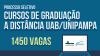 Banner publicitário anunciando o processo seletivo para cursos de graduação EaD UAB/Unipampa.