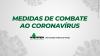 Medidas de combate ao coronavírus